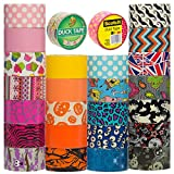 cool duct tape - Duck and Scotch Brand Duct Tape Set (25 Random Rolls) Colored Duct Tape Multi Pack, Duct Tape Bulk Lot For Duct Tape Designs, DIY Crafts