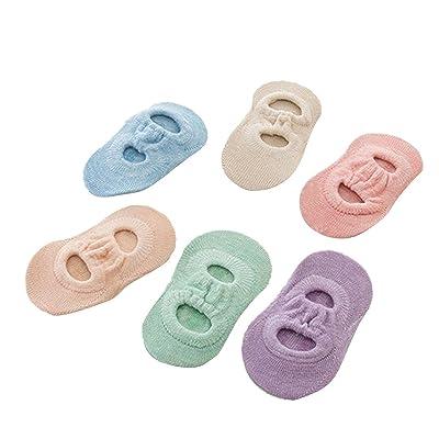 TININNA 6paires Unisexe Filles Top De Chaussettes Socquettes Bébé Enfant Coton Antidérapant pour 0-2 ans