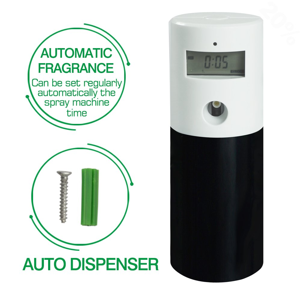 Eleta Air Freshmatic Automatic Aerosol Dispenser Supplies[Without Can] (White+Black)