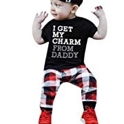 Minisoya Toddler Kids Baby Boy Short Sleeve Letters T Shirt Tops+Camouflage Shorts Pants Summer Outfits Clothes Set (Black1, 6M)