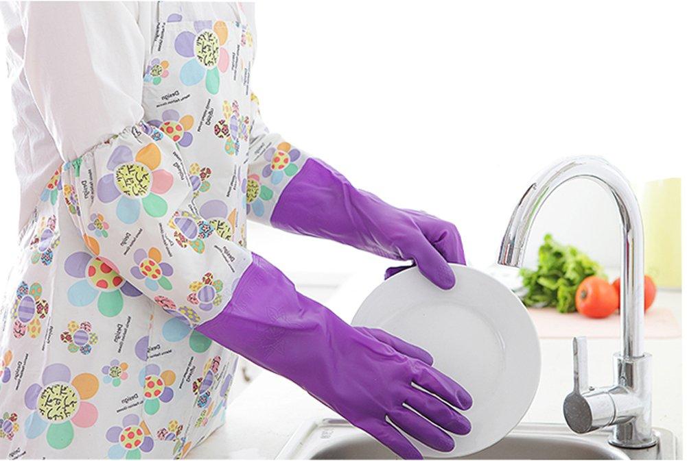 Geschirrspülen Handschuhe Winter Fleece Handwärmer Handschuh für die Reinigung und tun andere Houseworks Farbe Violett