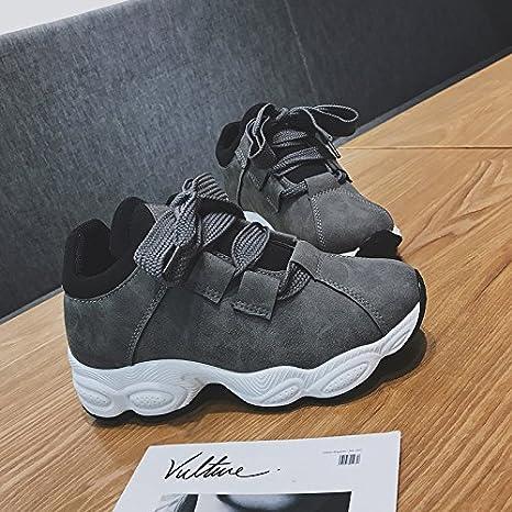 NGRDX&G Damen Sneaker Damen Sport Schuhe Damenschuhe Schnürschuhe Casual Schuhe 35-40, Schwarz, 6.