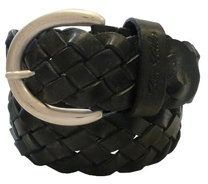 28ae20894a06 TOM TAILOR Damen Gürtel Damengürtel Leder Flecht Gürtel Ledergürtel 40mm  schwarz, Länge 95