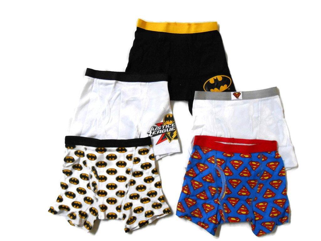 DC Comics Boys Justice League 5 Pack Boxer Briefs Handcraft Boys 2-7 BBP1730