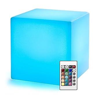 20cm Cube Lumineux Led Avec Telecommande Batterie Rechargeable