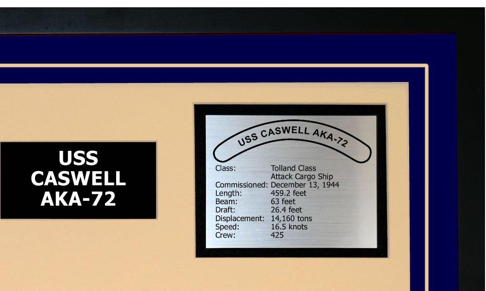 Amazoncom Navy Emporium Uss Caswell Aka 72 Framed Navy