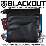 RFID ブロッキング ファラデーケージ プライバシーバッグ EMP BLACKOUT® バッグ 16インチ×15インチ ノートパソコン タブレット スマートフォン ハードドライブiPad iPhone Galaxy パスポート クレジットカード