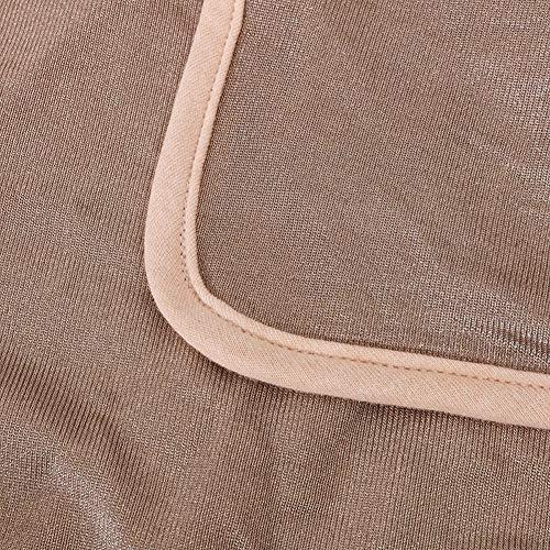 Protection Anti-Rayonnement en Fibre d'argent EMF Couverture pour Bébé Femme Enceinte Protection du Ventre Crème De Coton Biologique 85 * 74