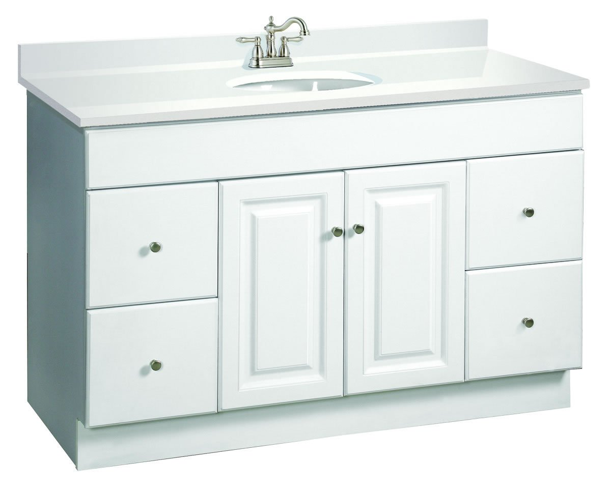 Design House 531145 Wyndham Ready To Assemble 2 Door/4 Drawer Vanity,  White, 48 Inches Wide By 31.5 Inches Tall By 21 Inches Deep     Amazon.com