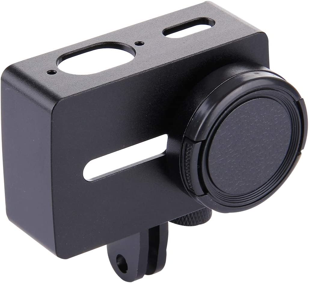 VKeyueDa for Xiaomi Xiaoyi Yi II Sport Action Camera Aluminum Alloy Housing Protective Case with Lens Protective Cap VKeyueDa Black Color : Black