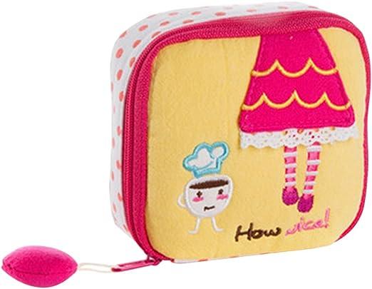 Neceser, de Gespout; bolsa con dibujos, pequeña bolsa multiusos, para dinero, cosméticos, compresas, dinero, etc., amarillo, 10.5 * 10.5 * 4 cm: Amazon.es: Hogar