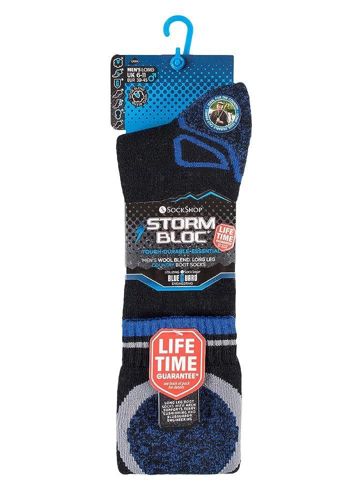 Storm Bloc - Hombre altos termicos lana trekking calientes gruesos calcetines para andar botas de agua (39-45 eur, SBGMS008BLK): Amazon.es: Ropa y ...