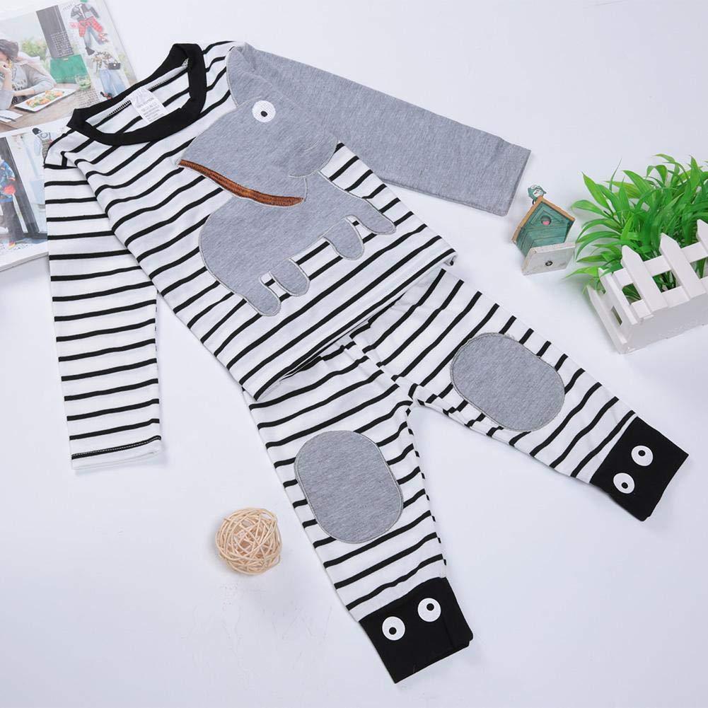 100CM Gentleman Elephant Boy gestreifte Kleidung Hemd und Hose Kleidung Set f/ür Kinder Baby-Kleidung Set