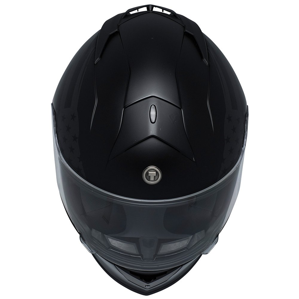 TORC Unisex-Adult T14 Mako Full Face Motorcycle Helmet with Graphic (Flag) (Flat Black X-Small