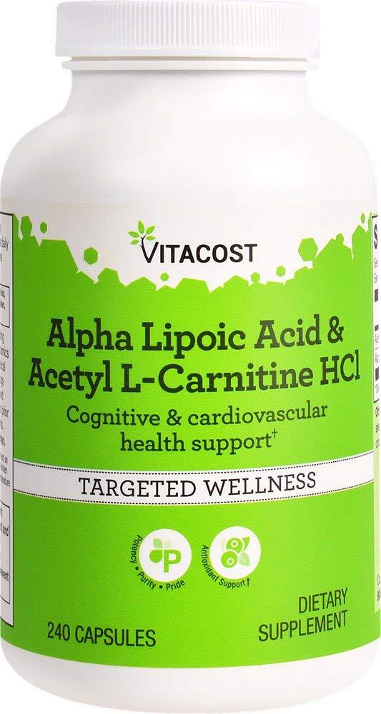 Vitacost Alpha Lipoic Acid Acetyl L-Carnitine HCl — 1,600 mg per serving – 240 Capsules