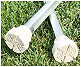 SureTip White Crutch Tips & Cane Tip for Crutches (Pair of 2) - Extreme Grip - Heavy Duty Universal Sizing Fits Shafts of 5/8'' 3/4'' 7/8'' 1'' & More