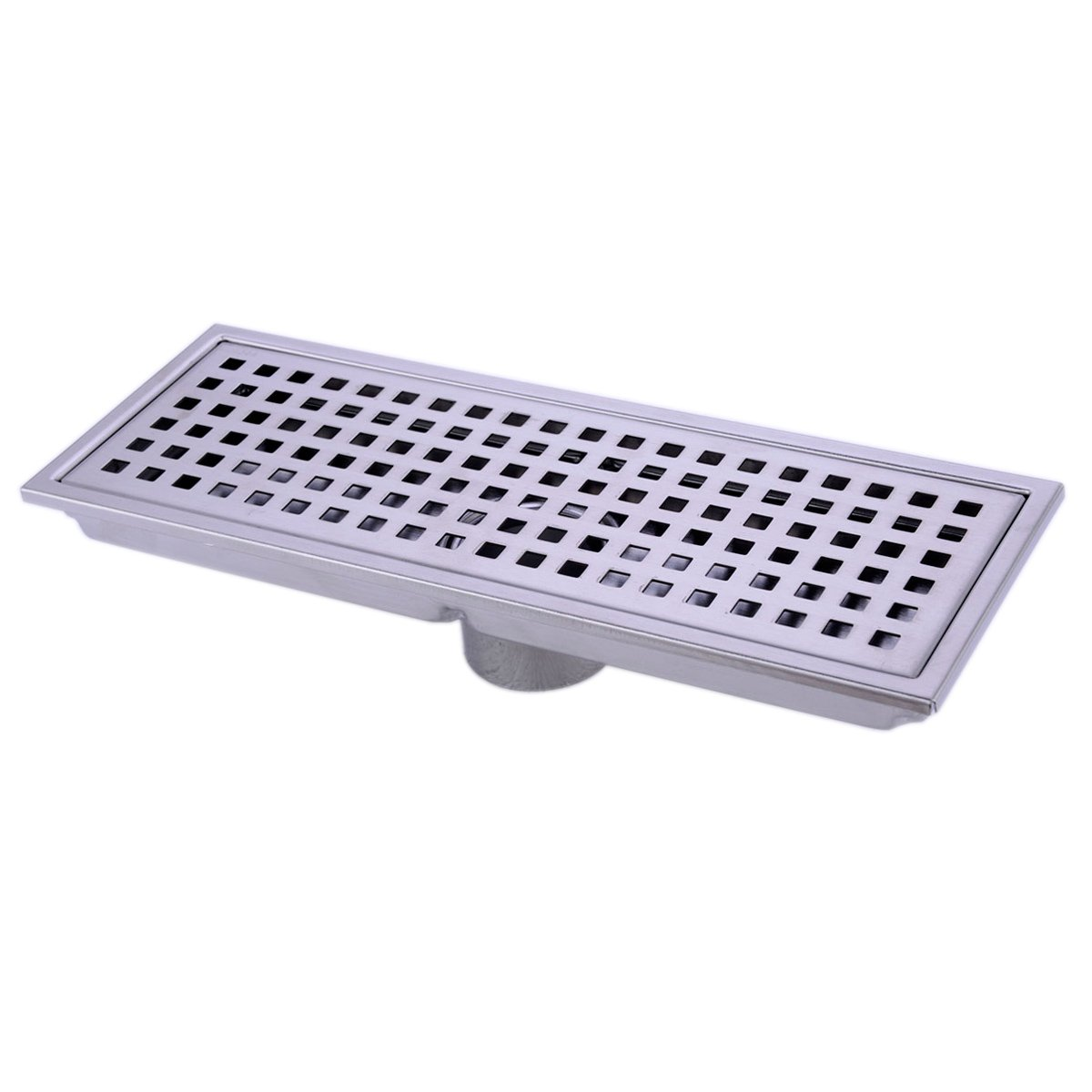 HANEBATH Linear Shower Floor Drain with Removal Cover - Made of Sus304 Stainless Steel, 12 Inch Long - Brushed Stainless