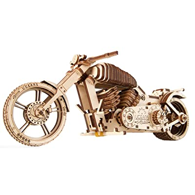 S.T.E.A.M. Line Toys UGears Models 3-D Wooden Puzzle - Mechanical Bike VM-02: Toys & Games