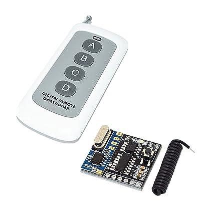 433 MHz Sender mit Empf/änger Homyl Wireless Fernschalter Funkschalter Set mit Fernbedienung DC 5V