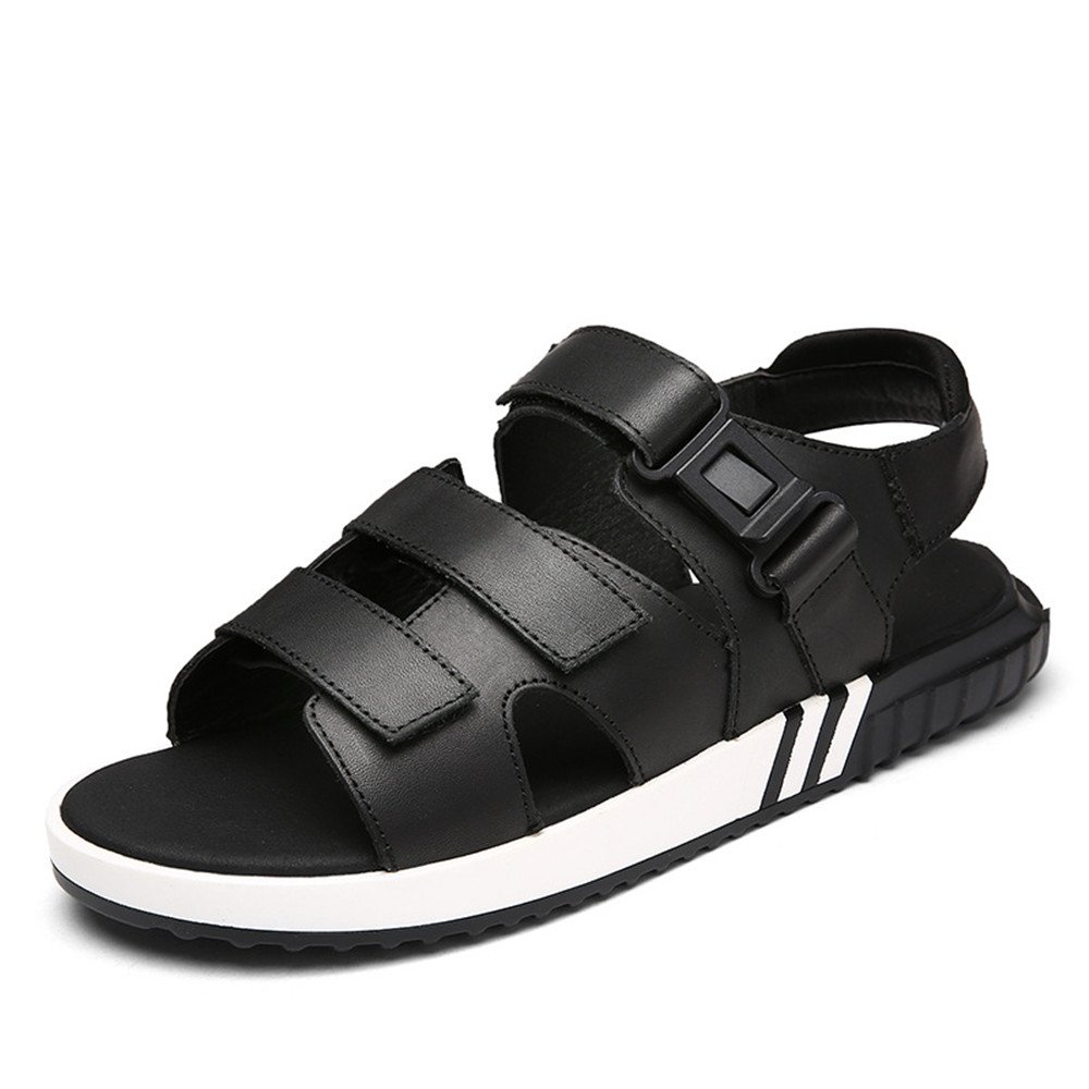 Xiaoqin Herren Sandalen Leder Breathable Slip (Größe einstellbar Sommer Strand Hausschuhe (Größe Slip : 42 2/3 EU) - c76baf