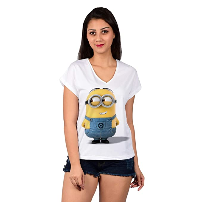 238f8d589 Baluchi Creepy Smile Minion Graphic Tee: Amazon.in: Clothing & Accessories
