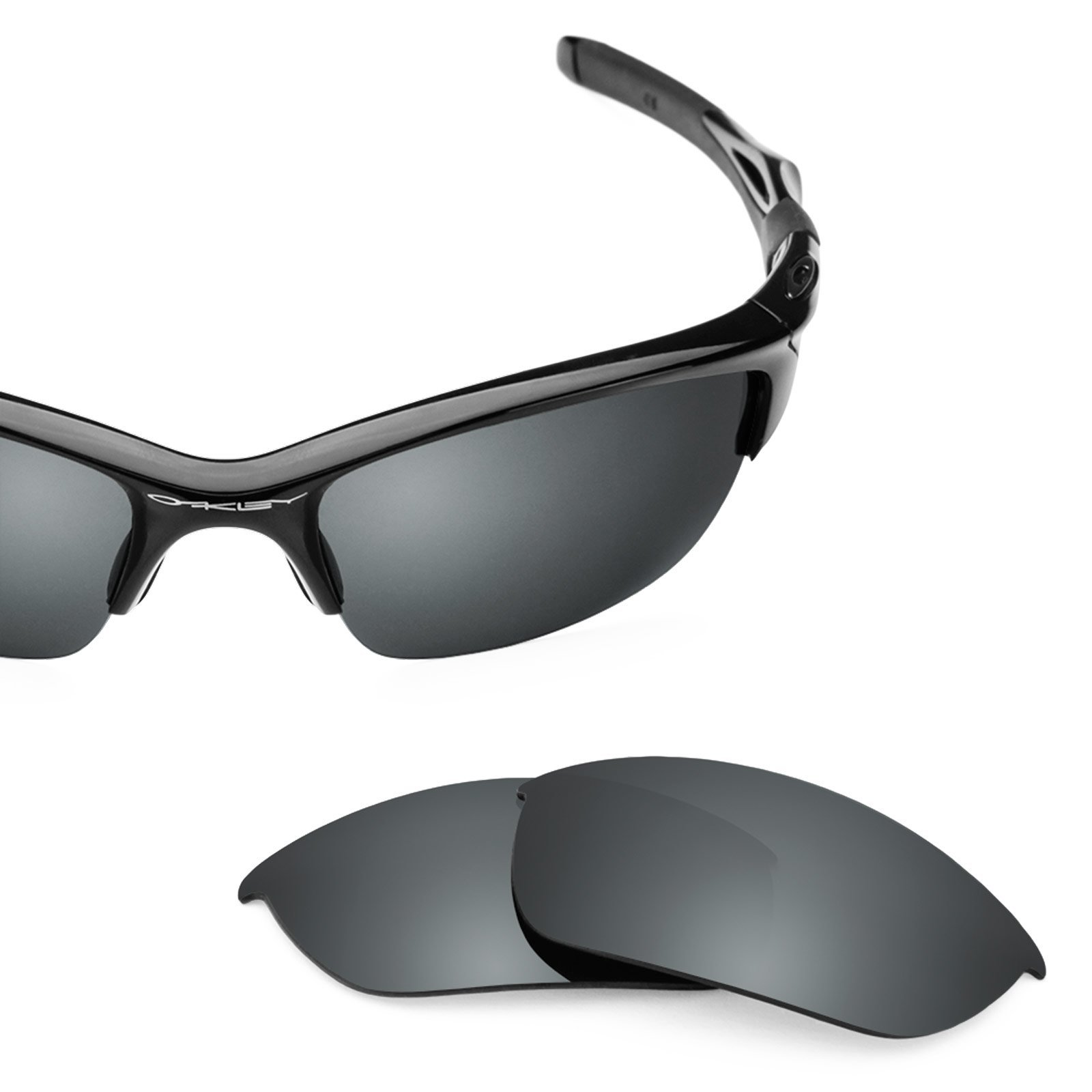 Revant Polarized Replacement Lenses for Oakley Half Jacket 2.0Black Chrome MirrorShield