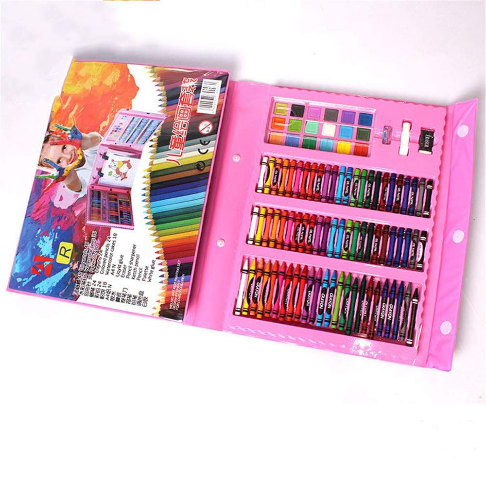 Flqwe Penne da coloreare di Pittura ad Acquerello, Penna di Pittura di colore di Penna di acquarello per Bambini dipinge Gli Attrezzi di Pittura di Arte Penna di colore, rosa