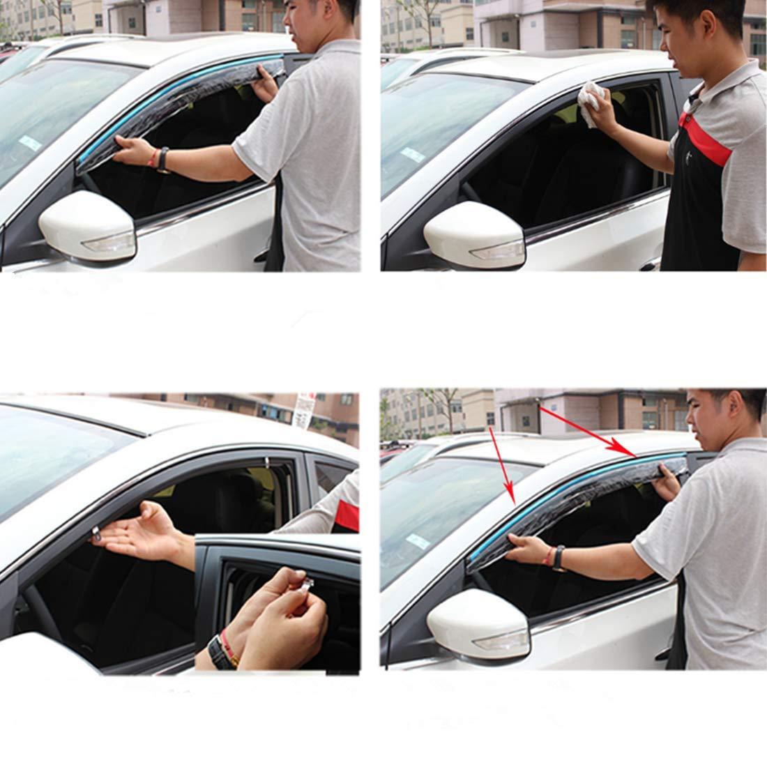 TUTU-C 4 Piezas para Nissan X-Trail 2014 2015 2016 2017 2018 2019 ABS pl/ástico Ventana Viseras toldos Lluvia Sol Deflector Protector de ventilaci/ón Protector Coche Estilo