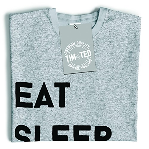 Tim and Ted Eat Sleep Gioco Ripetere Hobby gioco competitivo RPG Arcade Indie T-Shirt Da Donna