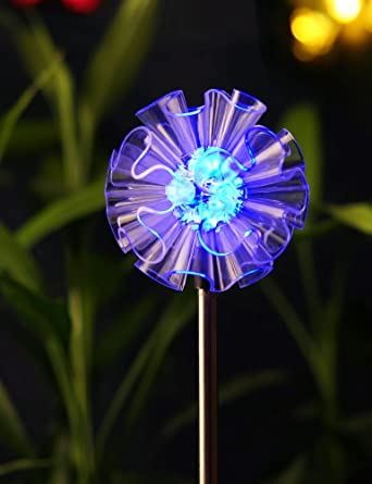 decorative solar lighting. BRIGHT ZEAL 3\u0026quot; Life-Size DANDELION LED Color Changing Solar Stake Lights Outdoor - Decorative Lighting A