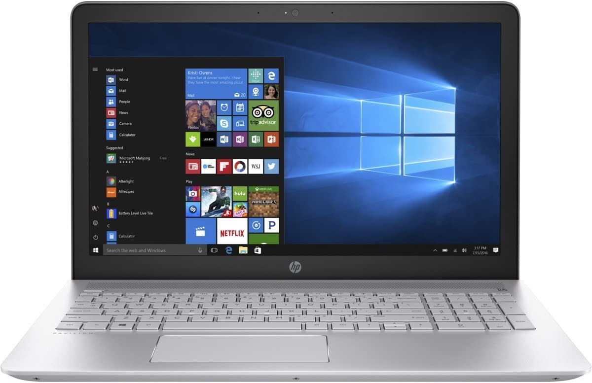 HP Pavilion 15.6-inch FHD 1080P Laptop PC, Intel Core i7 Processor, 12GB Memory, 1TB Hard Drive, Backlit Keyboard, Webcam, Bluetooth, USB 3.1, Windows 10