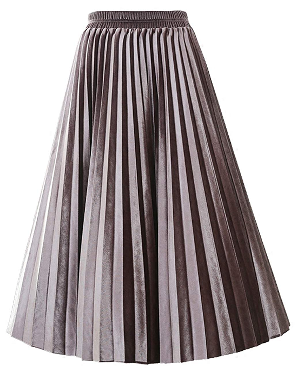999c718b29f7 SCHHJZPJ Autumn Winter Skirt, Women's Velvet Vintage Pleated Midi Skirts at  Amazon Women's Clothing store: