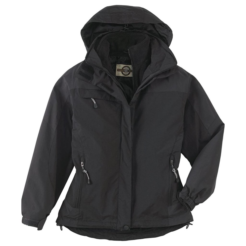 Ash City Ladies 3 in 1 Mid-Length Jacket (X-Large, Midnight Navy/Blue Gray) by Ash City Apparel (Image #1)