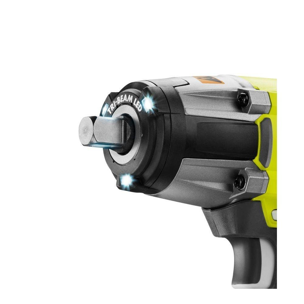Batteries Not Included, Power Tool Only Ryobi P261 18 Volt One 3-Speed 1//2 Inch Cordless Impact Wrench w// 300 Foot Pounds of Torque and 3,200 IPM