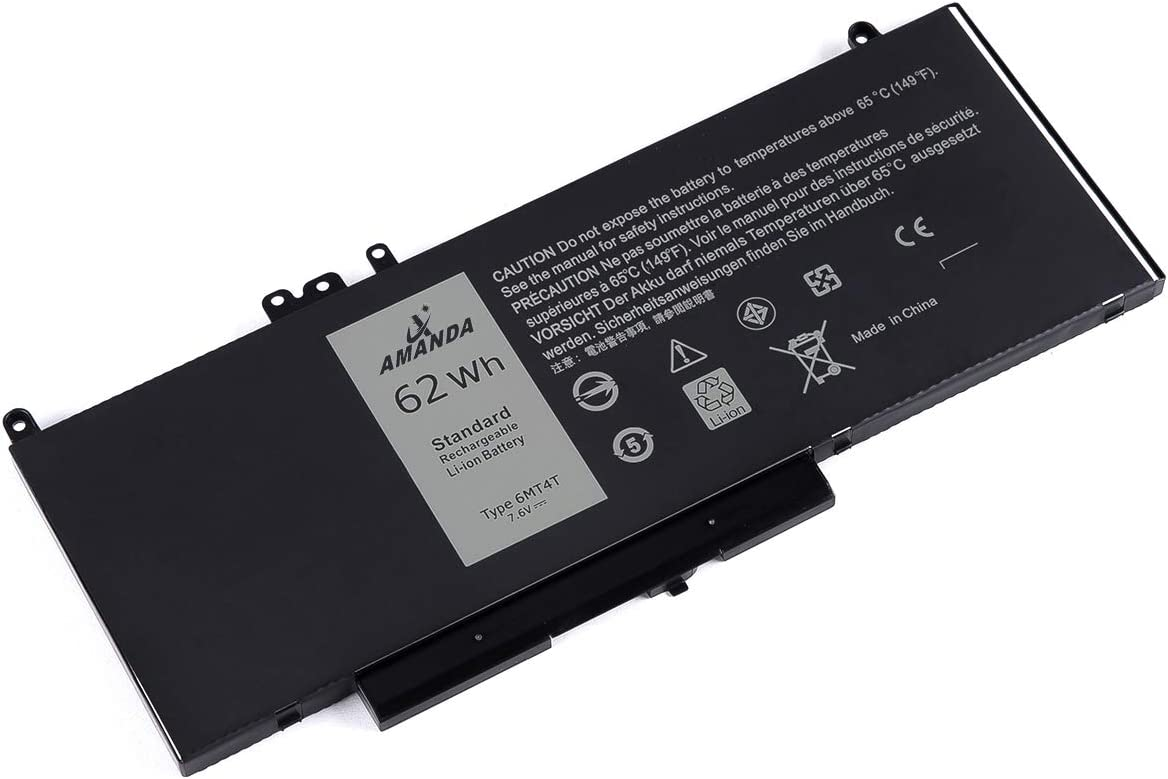 Amanda 6MT4T Battery 7.6V 62Wh Replacement for Dell Latitude E5470 E5570 7V69Y TXF9M 79VRK 07V69Y