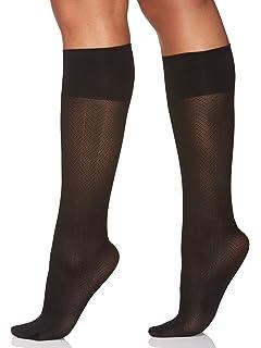 70929cee1 Berkshire Women s Comfy Cuff Herringbone Opaque Trouser Knee High Socks
