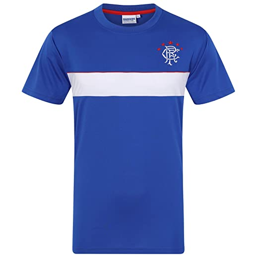 pretty nice 9068b f8c6e Rangers Football Club Official Soccer Gift Mens Poly Training Kit T-Shirt