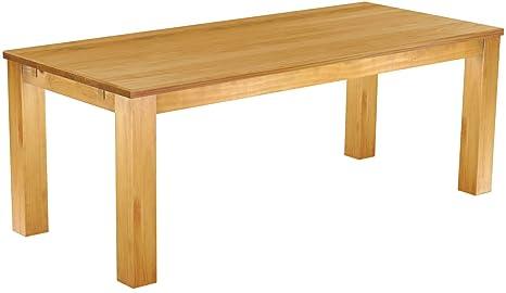 Brasilmöbel Tisch 208x90 Rio Classiko Honig Pinie Massivholz Größe Farbe Wählbar Esszimmertisch Küchentisch Holztisch Echtholz Esstisch