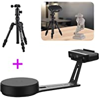 EinScan-SE White Light Desktop 3D Scanner with Tripod, 0.1 mm Accuracy, 8s Scan Speed, 700mm Cubic Max Scan Volume, Fixed/Auto Scan Mode, Lowest Cost Professional Level 3D Scanner