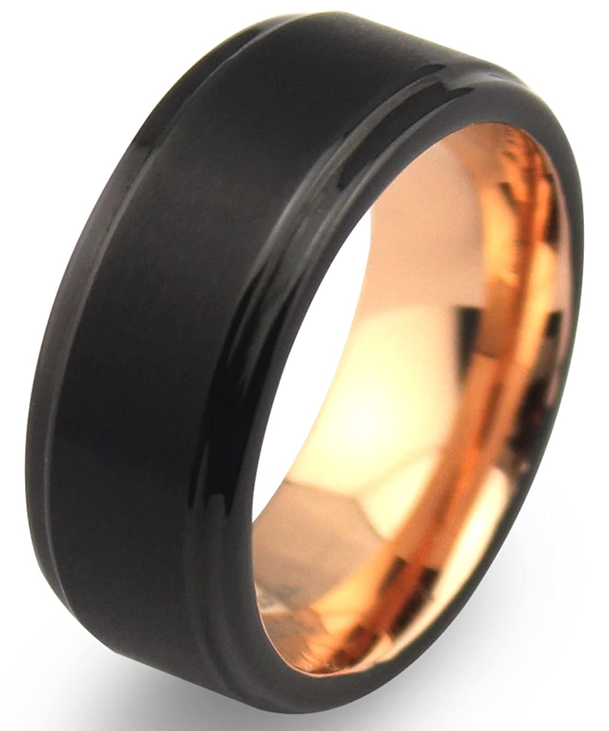 ct black spinel men bands in p gold mens s tw wedding band