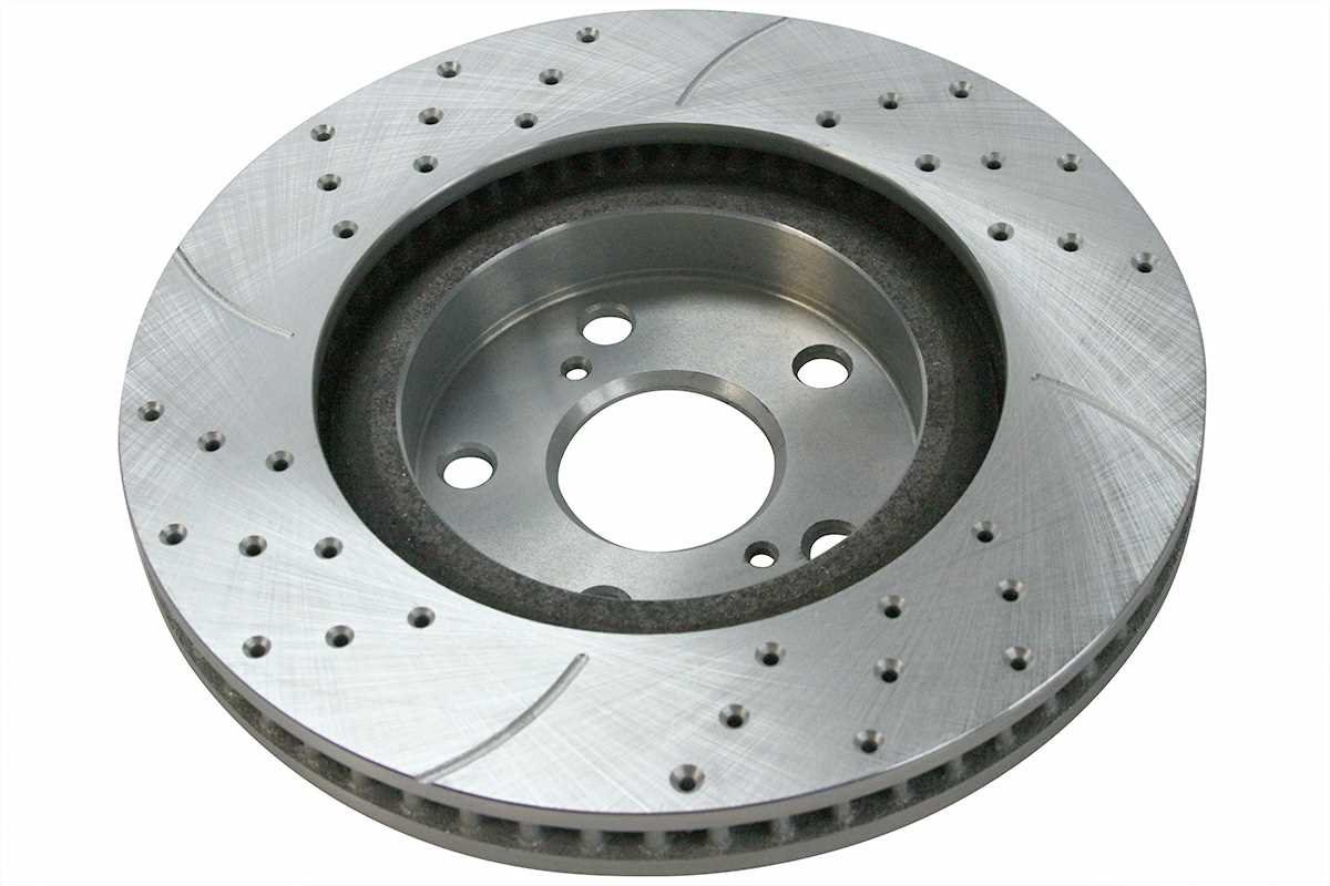 Prime Choice Auto Parts SRBRPKG00041 Front Performance Silver Rotors Calipers and Metallic pads Set