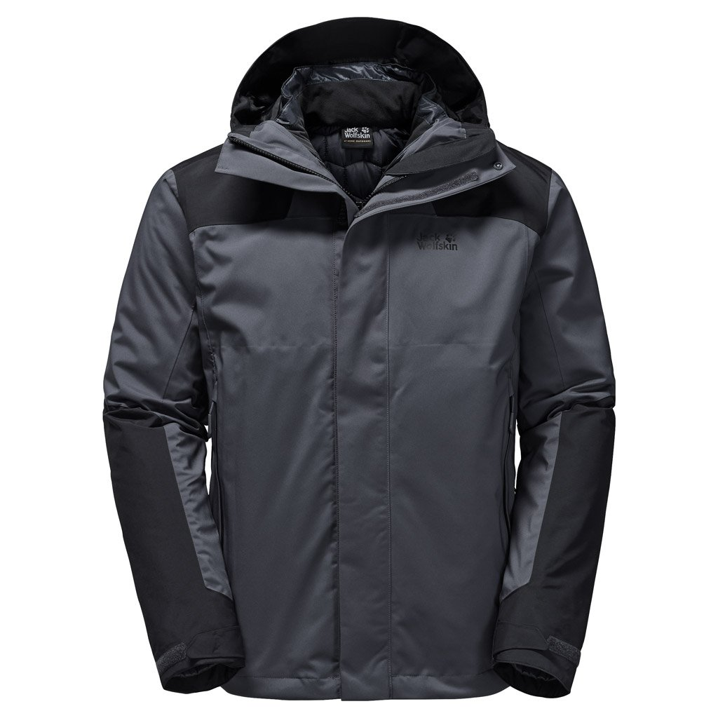 Ebony Small Jack Wolfskin Men's Altiplano Jacket