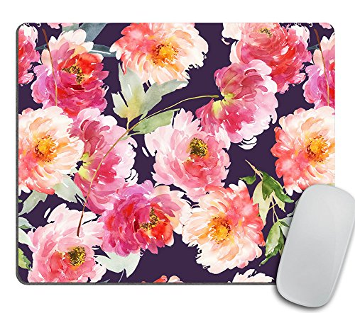 Watercolor Floral Mouse pad, Watercolor Mousepad, Rectangular Mousepad, Cute Desk Accessory for her, Gift for Lady boss