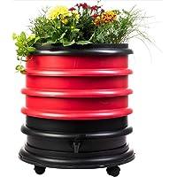 WormBox : Vermicompostador 3 bandejas Rojo + Jardinera - 56 litros