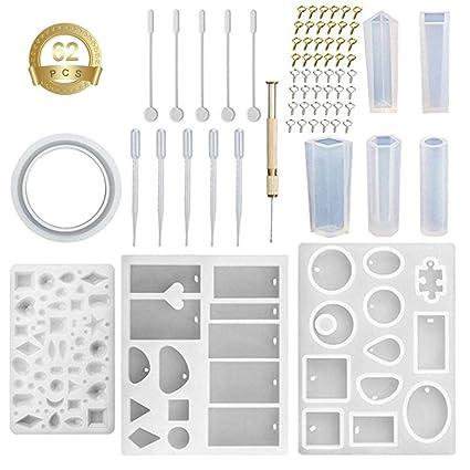 Fancylande Silicona Molde Bricolaje Kit de joyería, Molde de Colgante Herramienta de Bijoux de Silicona