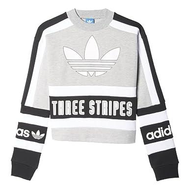 adidas Sweatshirt - Sweatshirt GrauSchwarzweiß Größe: 34 S