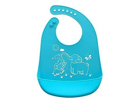 Babero de silicona para bebés Toddler Toalla de saliva para bebés Babero de Drool Babero para