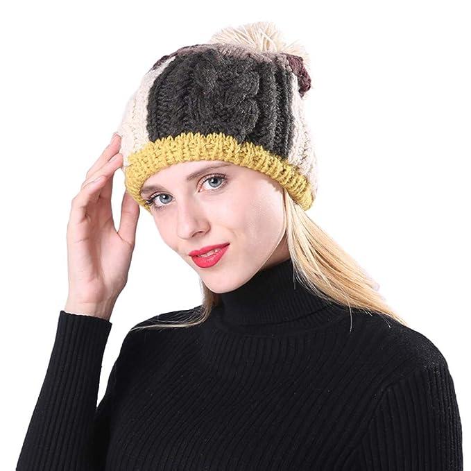Vovotrade cappello Da Donna in Maglia da Donna con Cuciture ... acab028b7d46