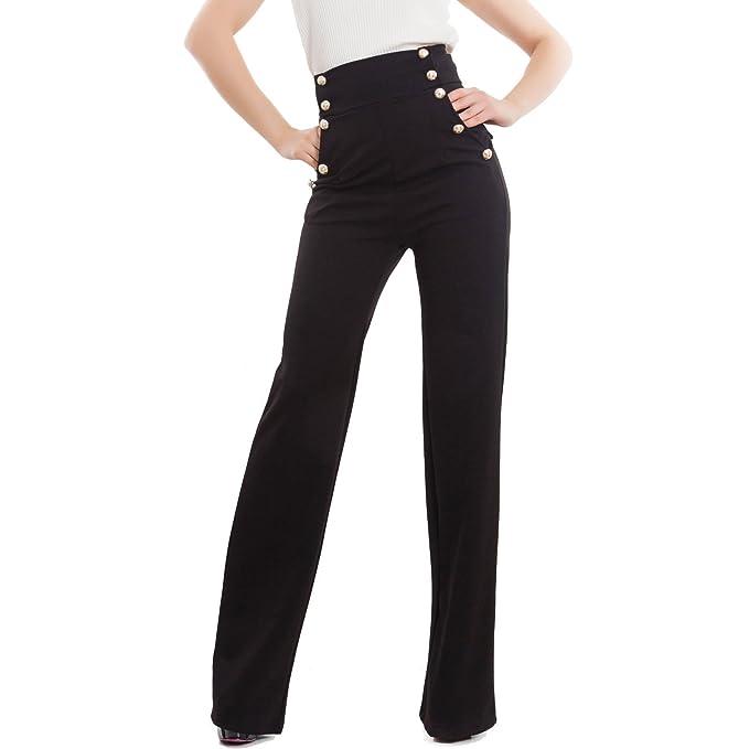 50aa1d6f1caf Toocool - Pantaloni Donna Campana Vita Alta Zampa Elefante Elasticizzati  Hot Nuovi AS-531: Amazon.it: Abbigliamento