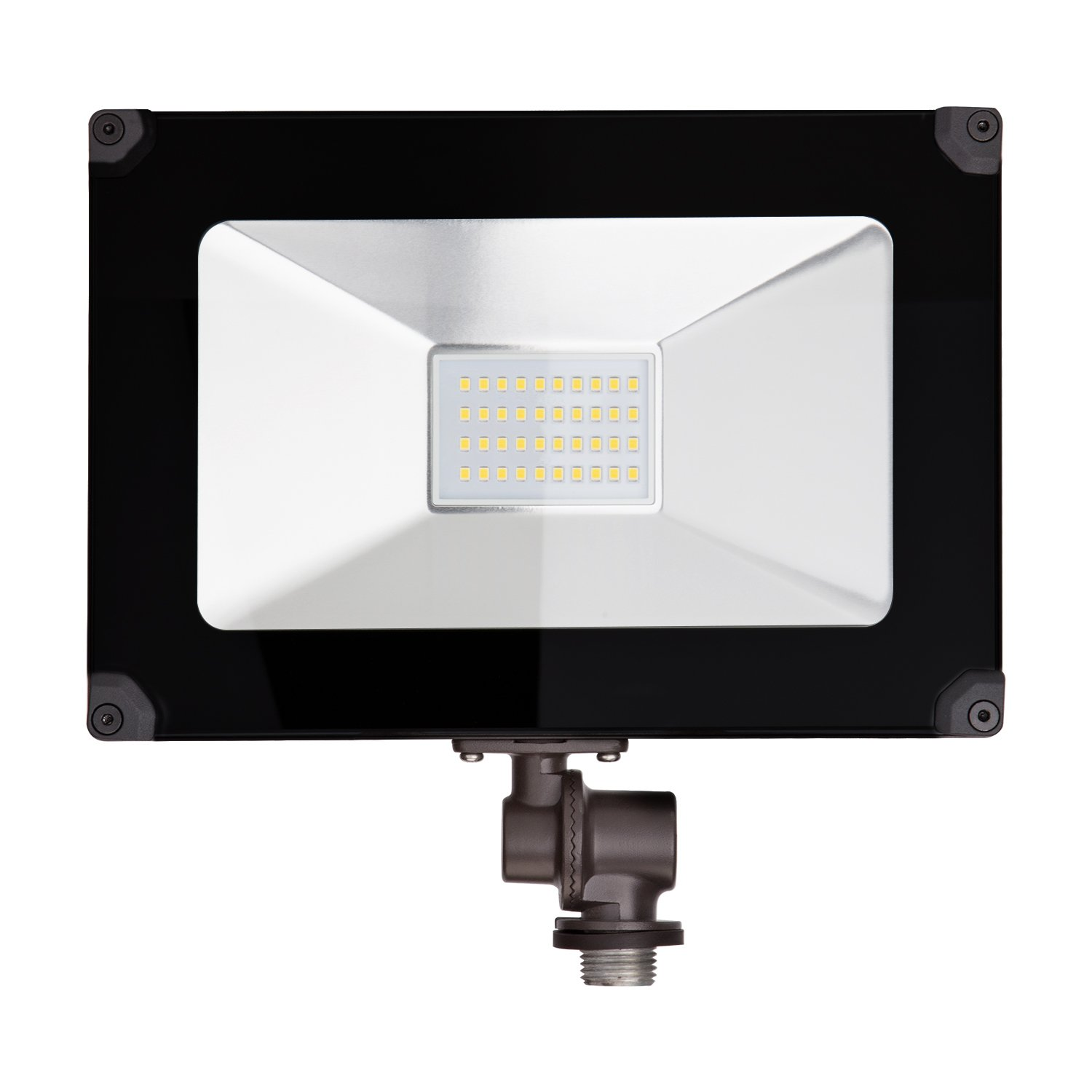 ALOTOA 30W LED Flood Light with Knuckle Mount Super Slim SMD Outdoor [3000lm] Security Lights UL Listed(4000K)
